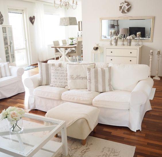 ektorp sofa in a vintage-styled living room OPNKDNB