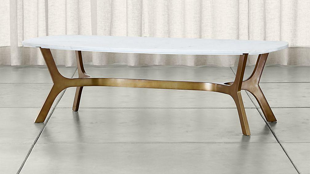 elke rectangular marble coffee table ... BZIPDMJ