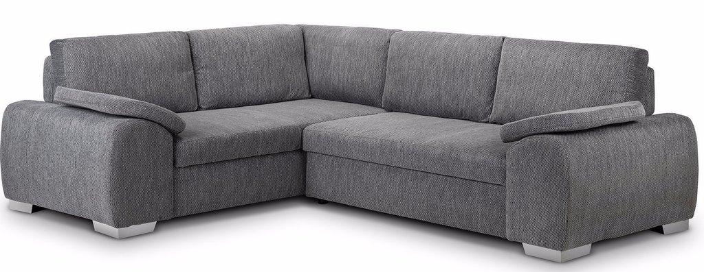 enzo left hand fabric corner sofa bed XGLYNLU