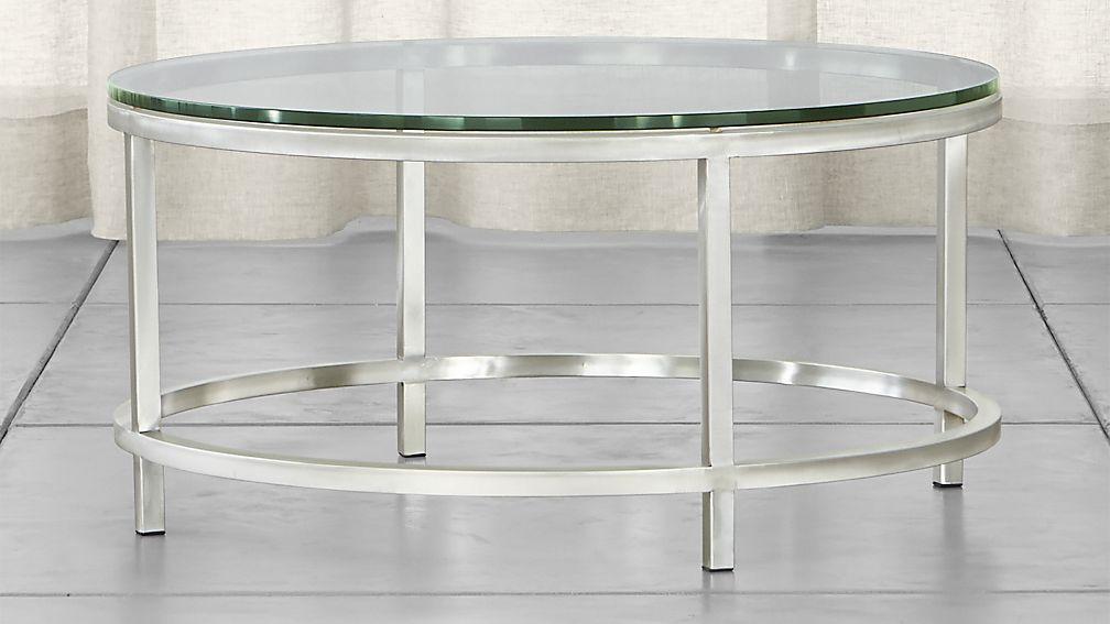 era round glass coffee table ... RVYIUTZ