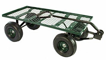 erie tools steel flatbed garden cart 38x 20 yard wagon heavy  duty IMUWZVK