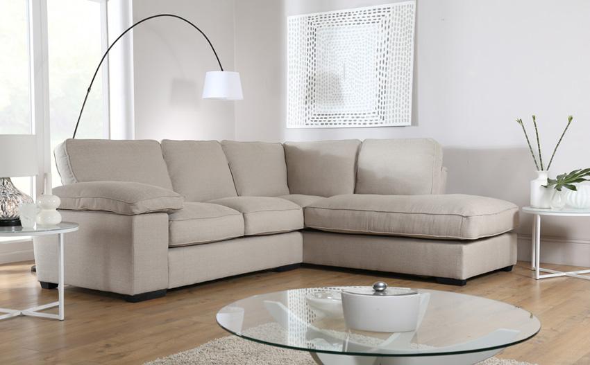 fabric corner sofa buoyant cassie costa linen fabric l shape corner sofa ... VAPRTJB