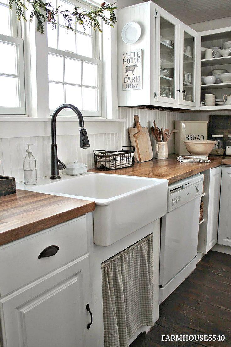 farmhouse kitchen decor ideas UTCFIQW
