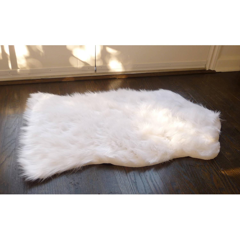 faux fur rug home dynamix faux sheepskin fur rug, white HLAPMLG