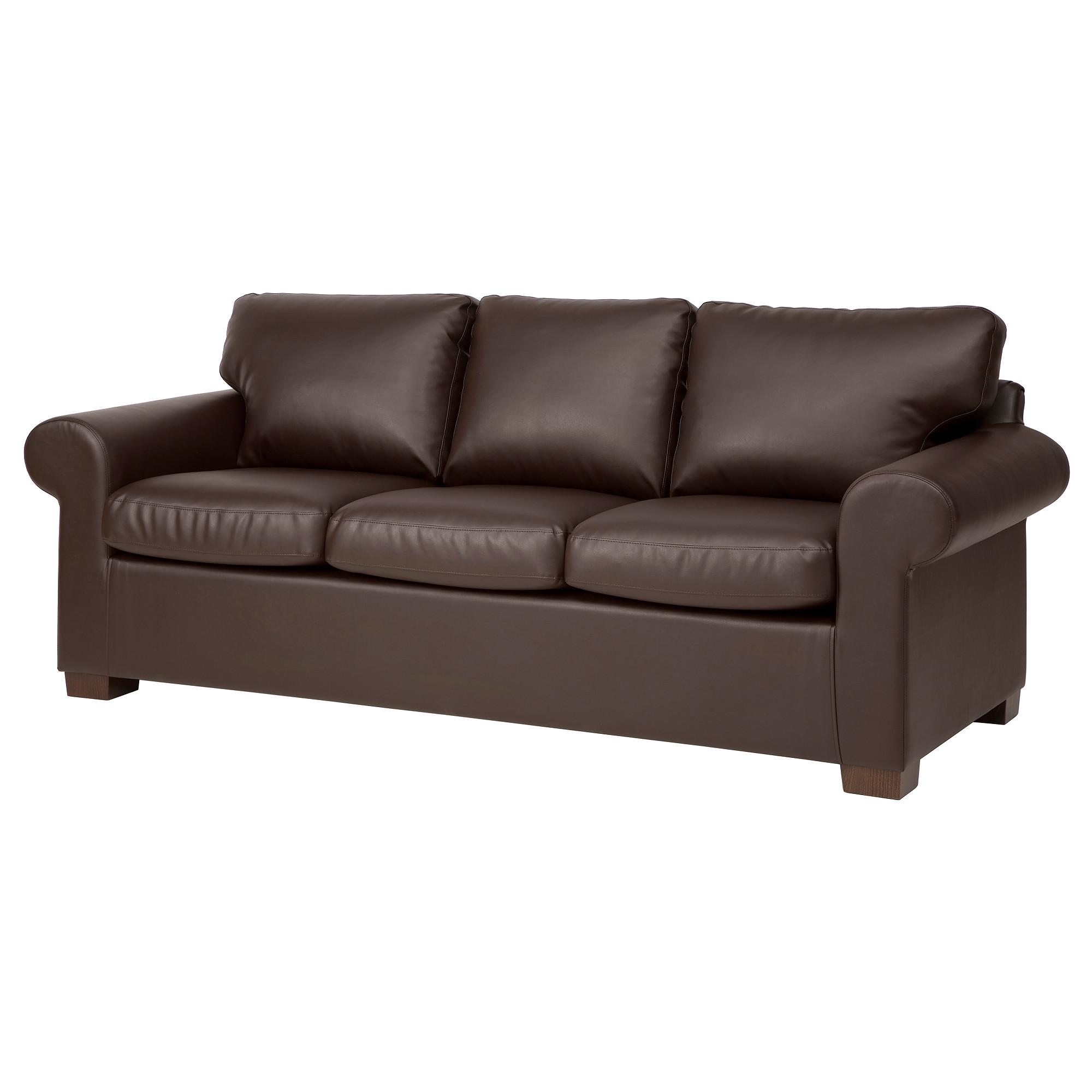 faux leather sofa ektorp sofa, kimstad brown width: 85 7/8  LNAVOIW