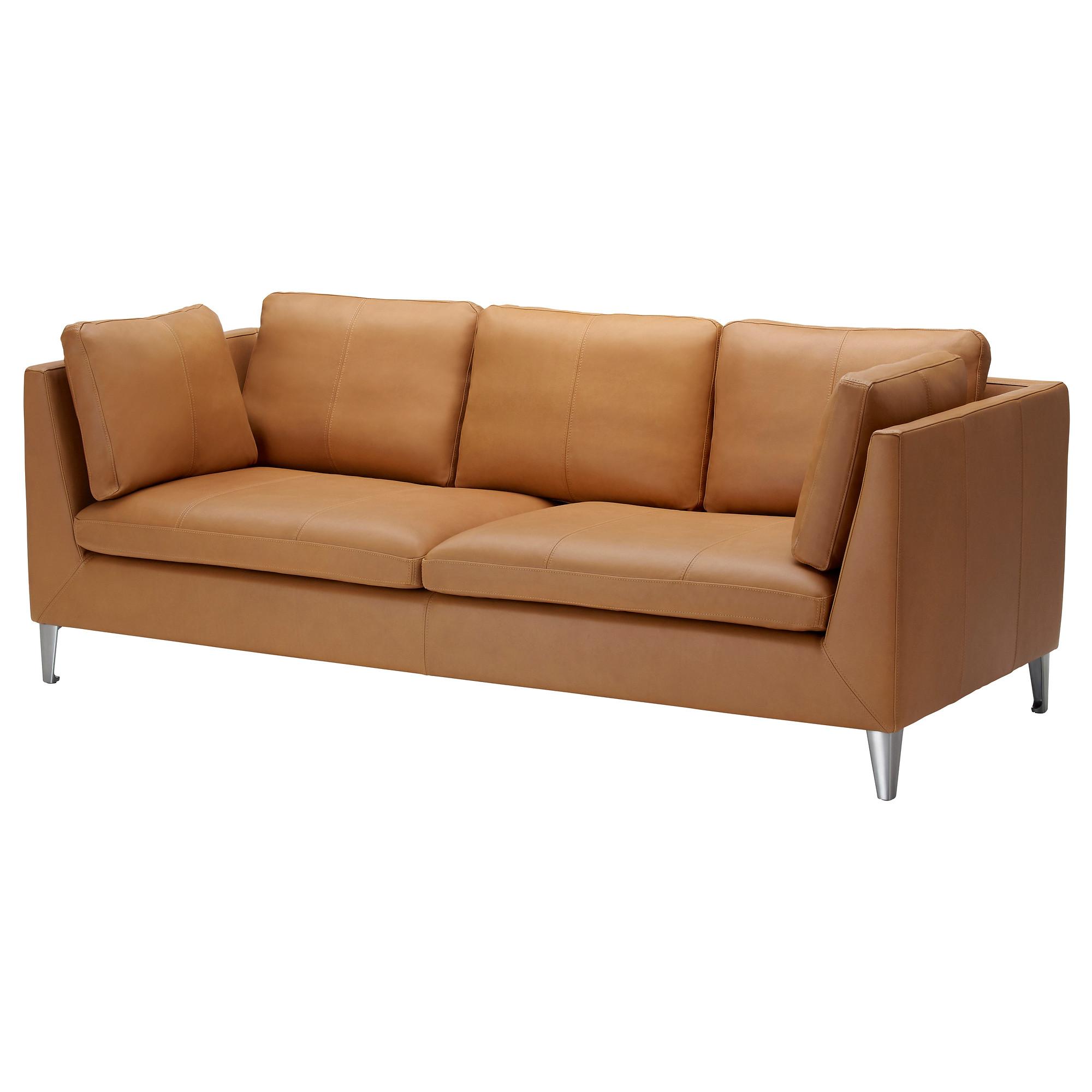 faux leather sofa stockholm sofa, seglora natural width: 83 1/8  OVOGBSH