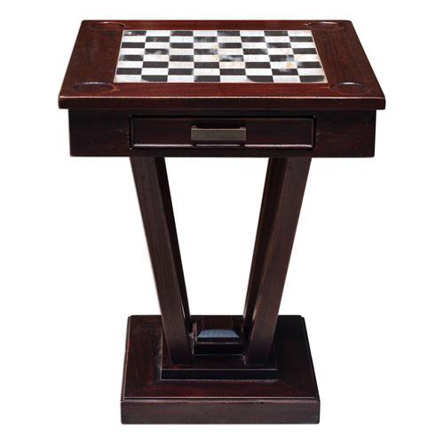 fineas natural mahogany game table KRZXWTO
