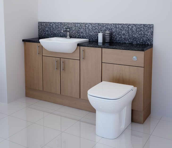 Try to fit the fitted bathroom furniture to get modernized look