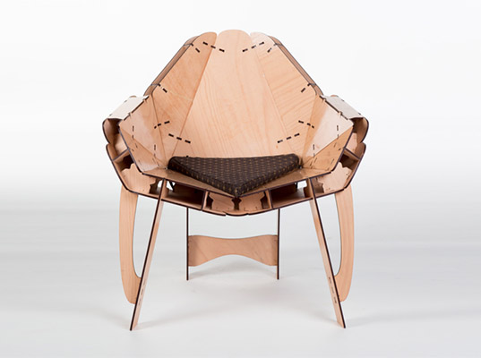 flat pack furniture this flat-pack, laser-cut furniture assembles without glue or bolts BHMXBMF