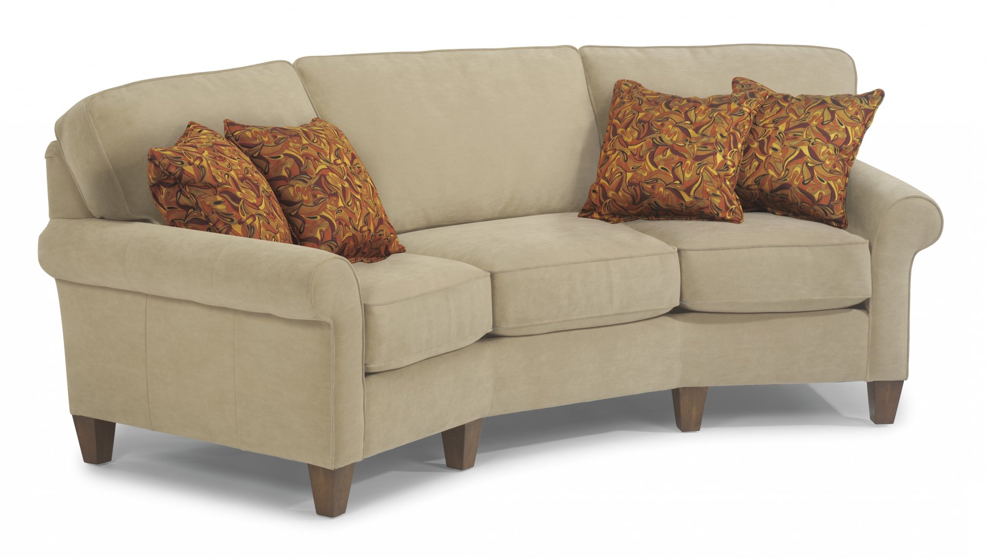 flexsteel sofa fabric conversation sofa EBLMZIR