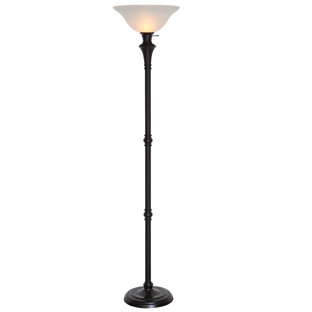 The floor lamps can give a traditional and foxy look to inviting space