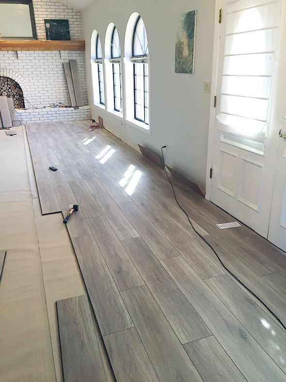 flooring ideas water-resistant laminate flooring - little green notebook TVGWWEO