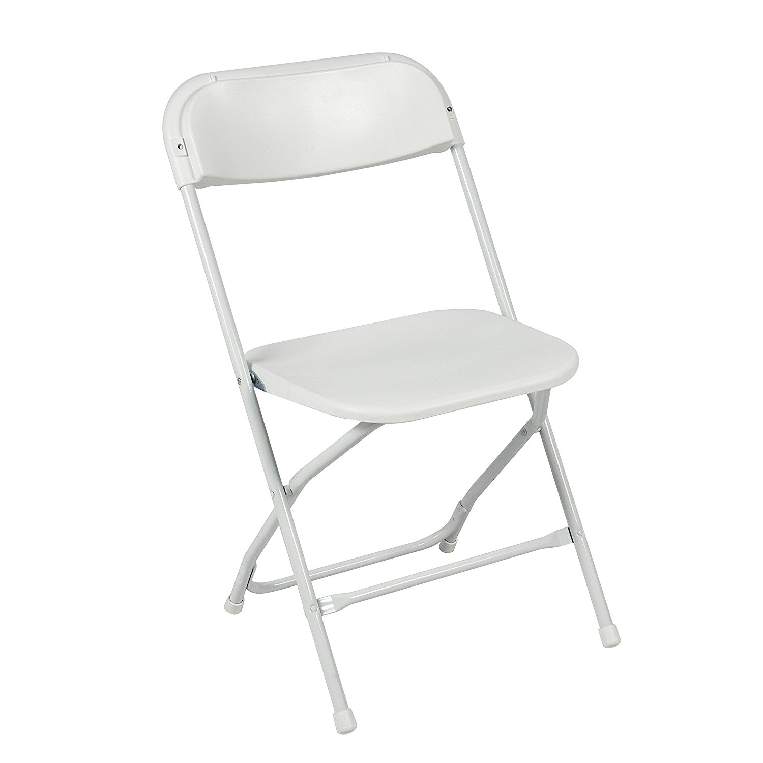 foldable chairs amazon.com: best choice products (5) commercial white plastic folding chairs  stackable wedding ZCVSLEV