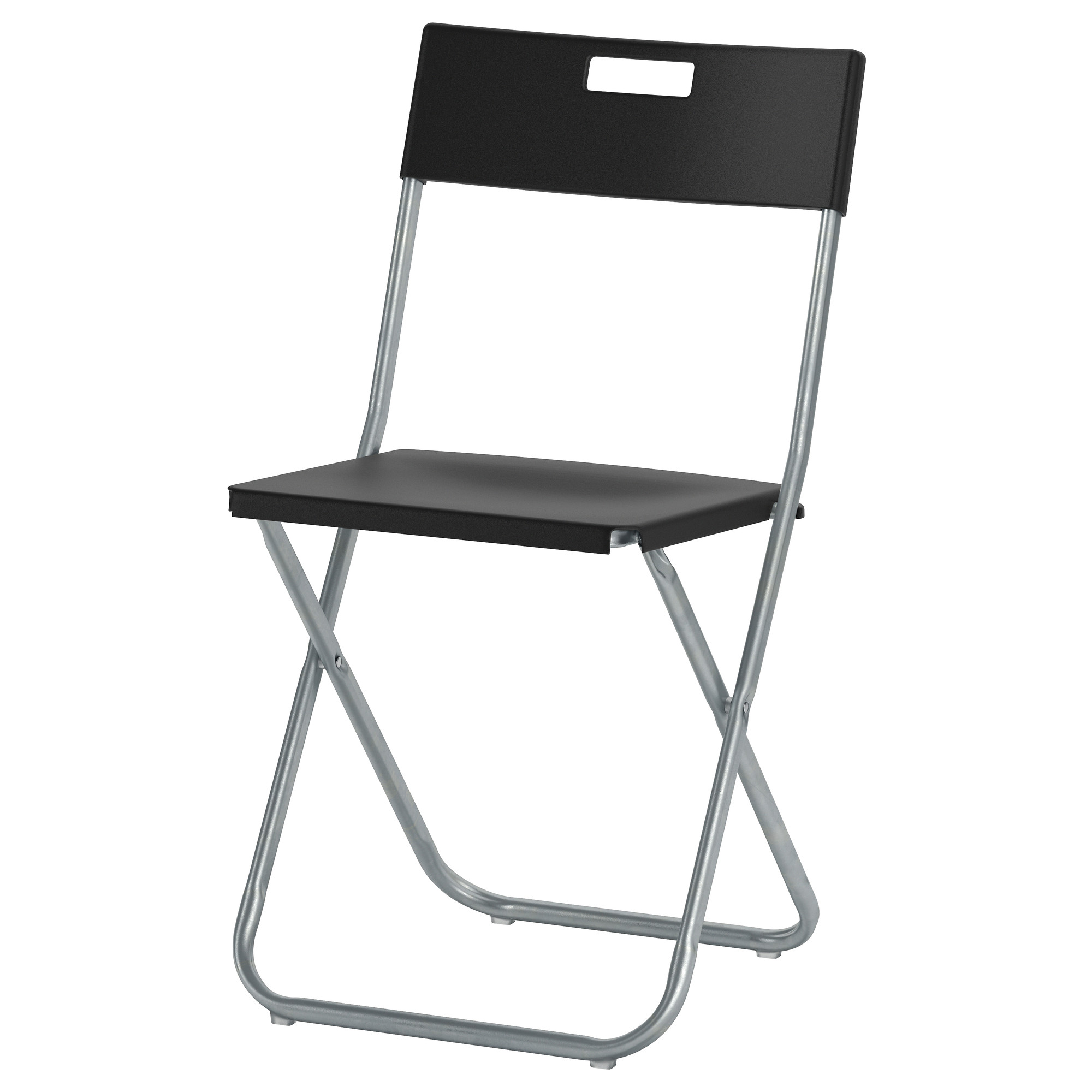 foldable chairs gunde folding chair, black tested for: 220 lb width: 16 1/8 MZYITQC
