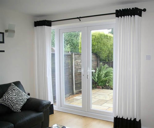 french door curtains french door curtain ideas EIUFODU