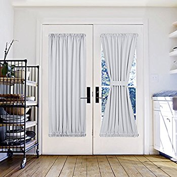french door curtains white patio door curtain panel - pony dance solid energy efficient window YKVQMMQ