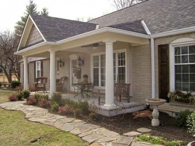 front porch ideas adding a porch to a ranch house - google search XEKSNNM