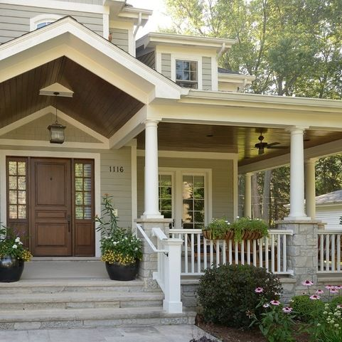 front porch ideas find this pin and more on traditional decor. front porch ... QBXVWHQ