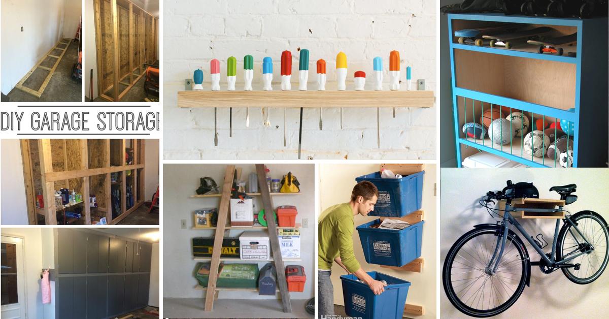 garage organization ideas 35+ diy garage storage ideas to help you reinvent your garage on a EXKAAAQ
