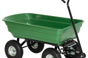 garden cart amazon.com : best choice products 650lb garden dump cart wheelbarrow wagon  carrier QTPYAQG