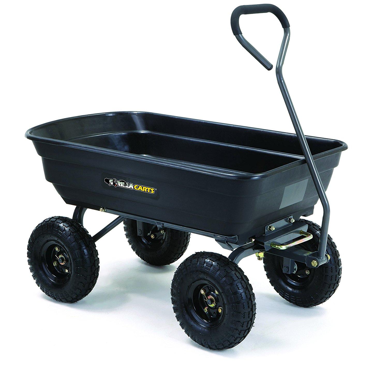 garden cart amazon.com : gorilla carts poly garden dump cart with steel frame and KSKIZDU