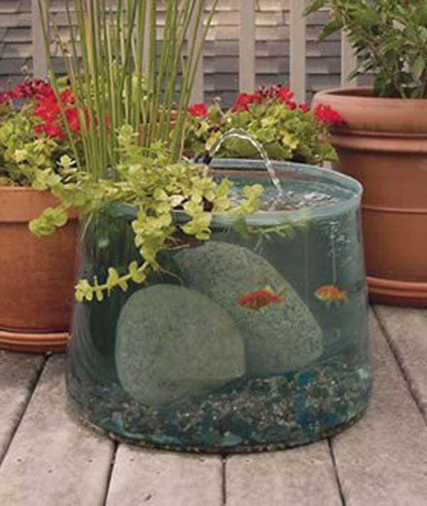 garden ideas 22 small garden or backyard aquarium ideas will blow your mind RQYYIGF
