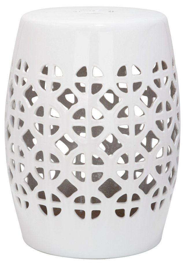 garden stools janera ceramic garden stool, white GJDDUFV