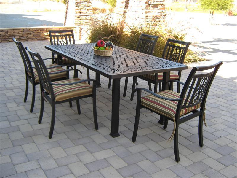 garden table and chairs set ... 7 piece patio dining set: outstanding patio table and chair sets ... VZJQOYQ