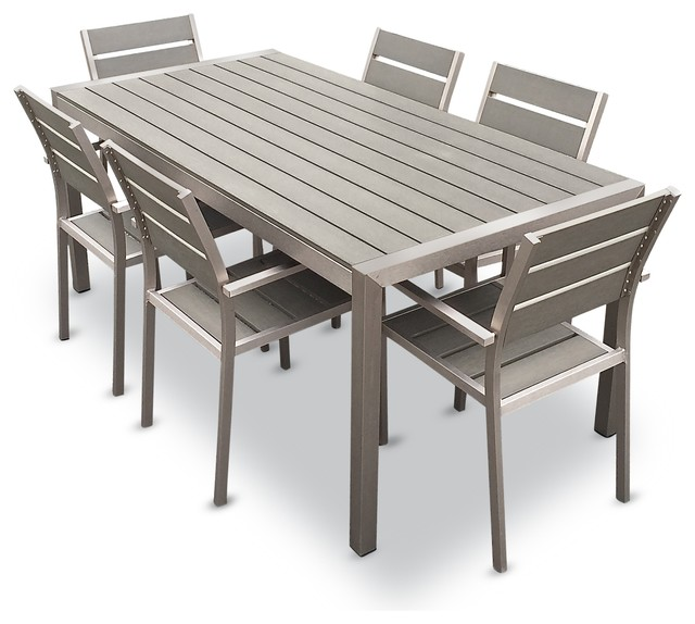 garden table and chairs set habana 7-piece outdoor dining set contemporary-outdoor-dining-sets ZRTTZNO