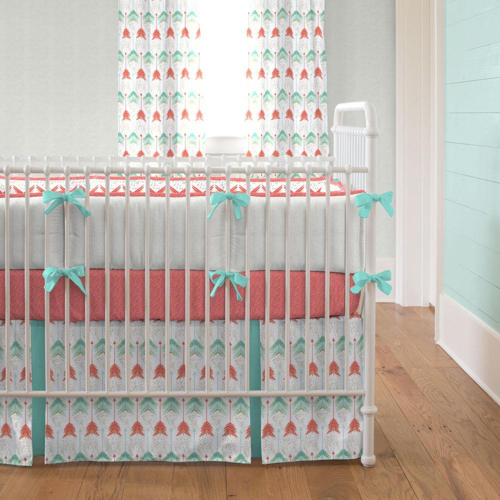 girl crib bedding ... coral and teal arrow crib bedding ZERPTSO