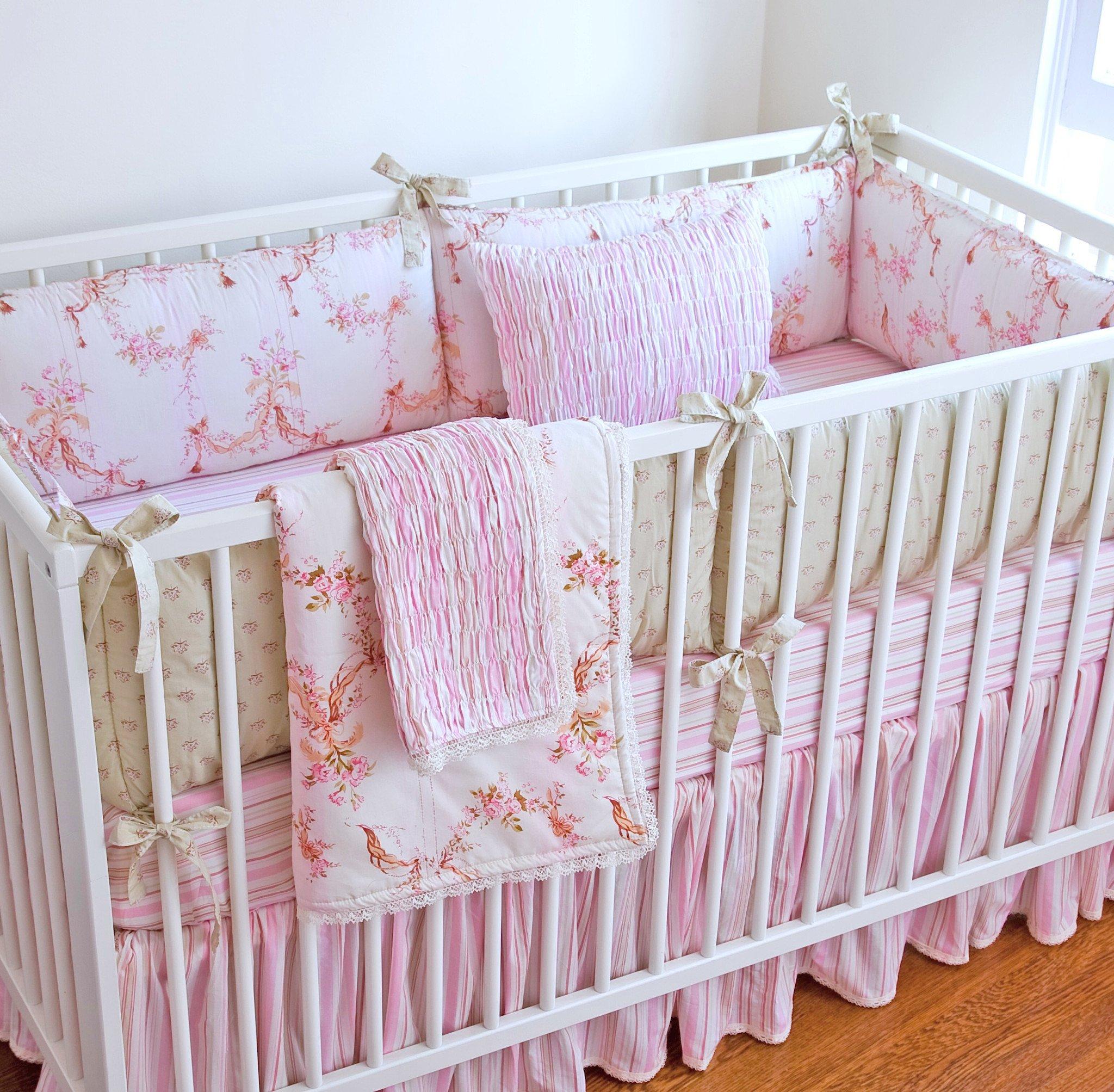 girl crib bedding girl crib sets - ivory cassandra crib bedding IHRIPQB