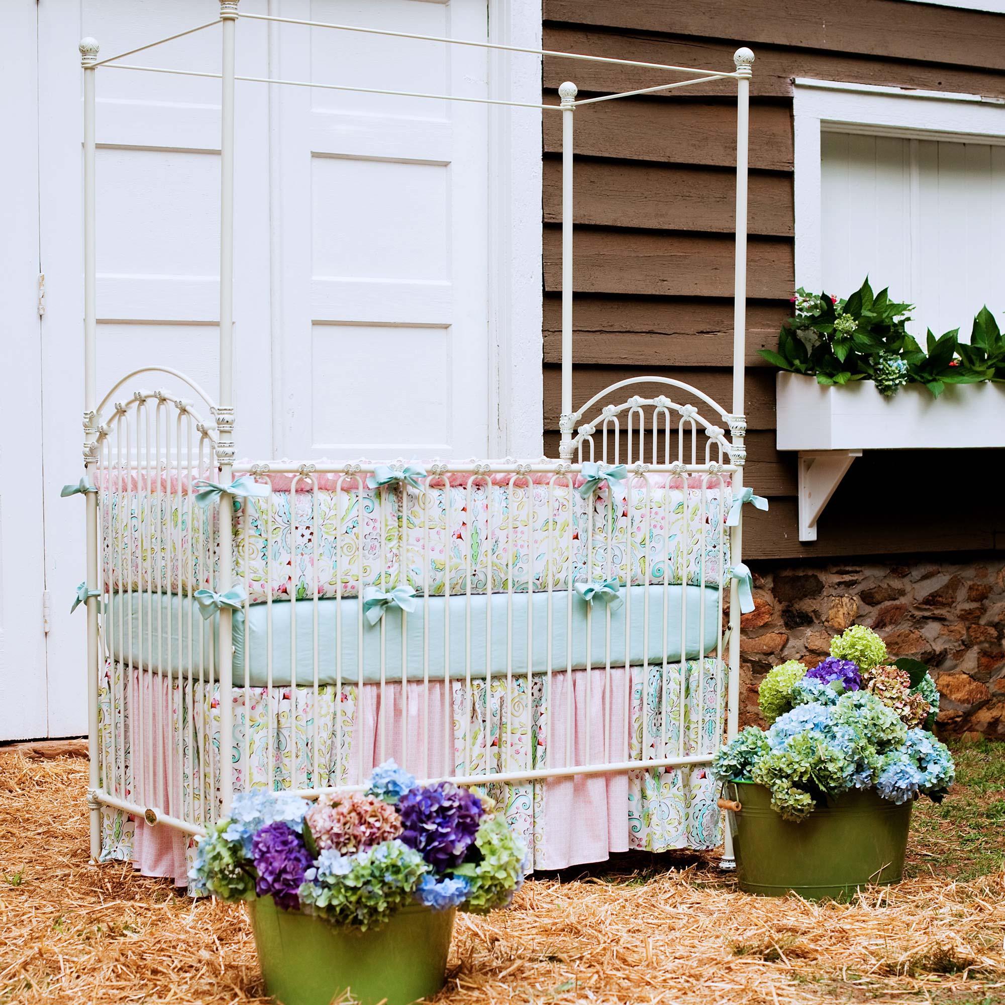 girl crib bedding shabby chenille crib bedding · love birds crib bedding KFFUVIZ