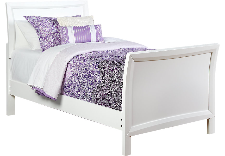 girls bed ivy league white 3 pc twin sleigh bed XUIUOPU