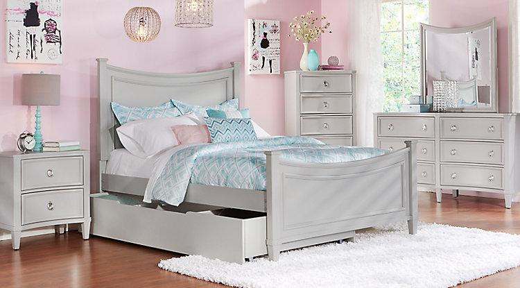 girls bedroom sets jaclyn place gray 5 pc full bedroom VPAJKSR