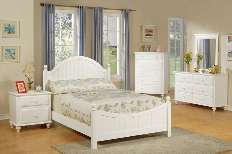 girls bedroom sets lovely white panel headboard young girls 4 pc wooden youth twin full bedroom OGELWNG