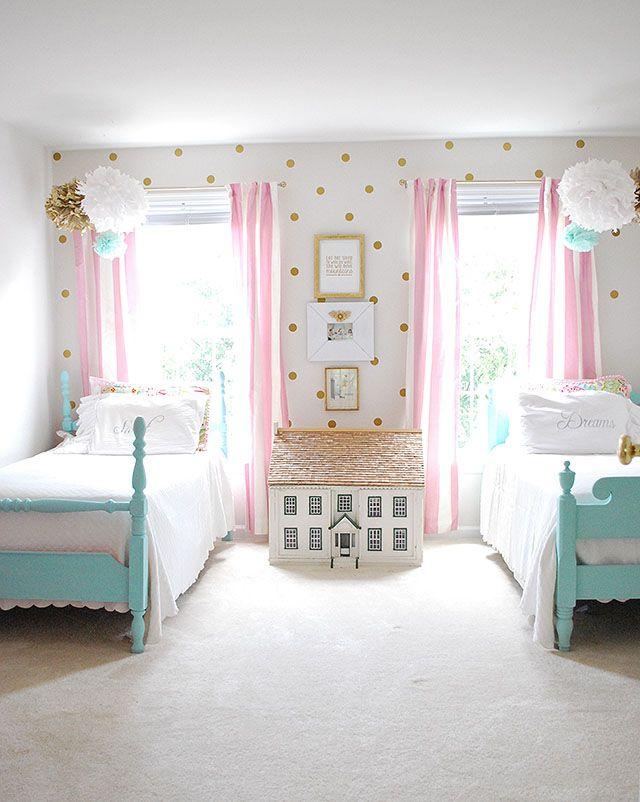 girls bedrooms gorgeous little girls bedroom. i love the polka-dots! BPVSQAS
