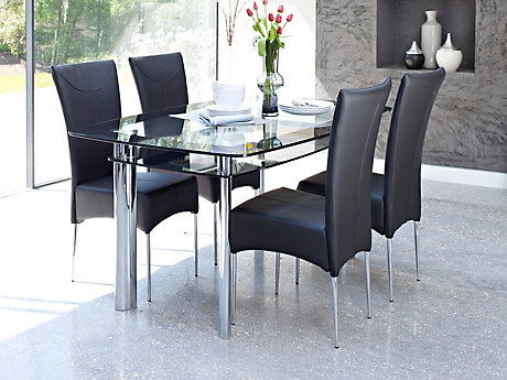 glass dining table boat dining table u0026 4 marilyn chairs. XMTPPNY