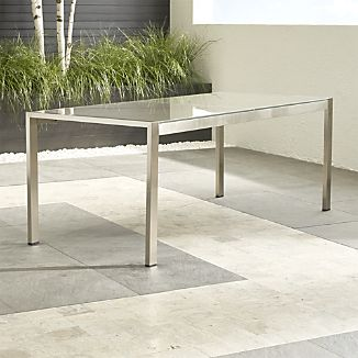 glass dining table dune rectangular dining table with taupe painted glass NRUXGTF