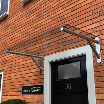 glass door canopy with gallows brackets: type k XGYFDPO