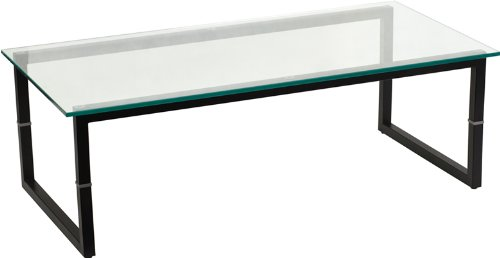 Glass table amazon.com : clear glass top office reception room coffee occasional tables  with JECKLBR