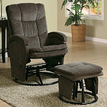 glider recliner coaster recliners with ottomans collection 600159 chenille fabric glider  recliner with swivel SOOHWSC