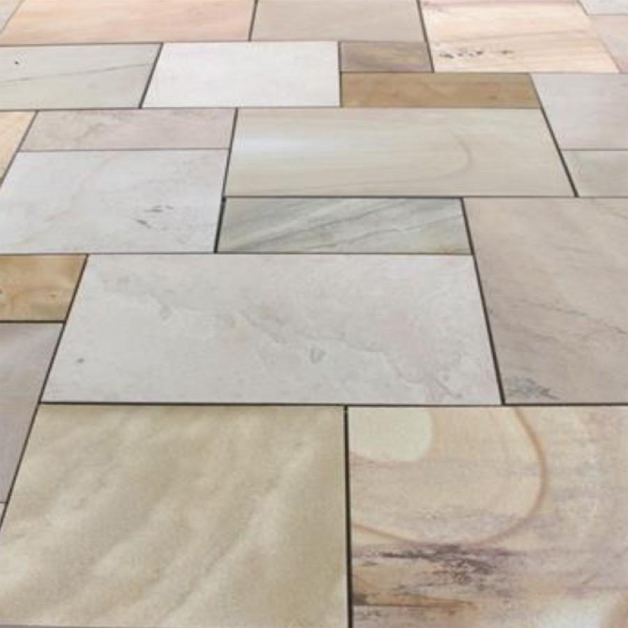 global stone paving-sawn u0026 sandblasted sandstone-u0027artisan serenityu0027-sand  dune blend-paving slabs AVXIJCM
