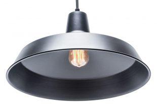 globe electric 1-light matte black barn light pendant-65155 - the home depot URAJZPM