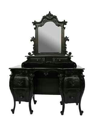 gothic furniture {villa} gothic dressing table #black #gothic #furniture SYCMSXB
