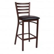 grade stools ladder back brown metal bar stool AZJQKIT