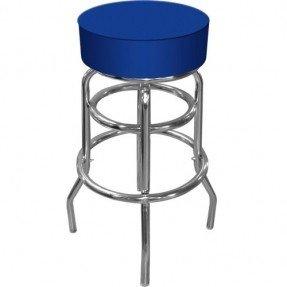 grade stools trademark high grade blue padded bar stool, blue FHIMHUX