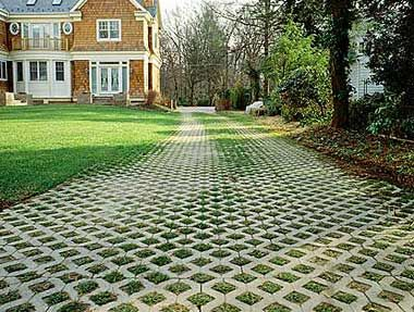 grass driveway pavers. nice look, more usability as a yard. just need to NRYUJFK
