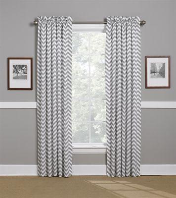 gray chevron curtains WWLGPBG