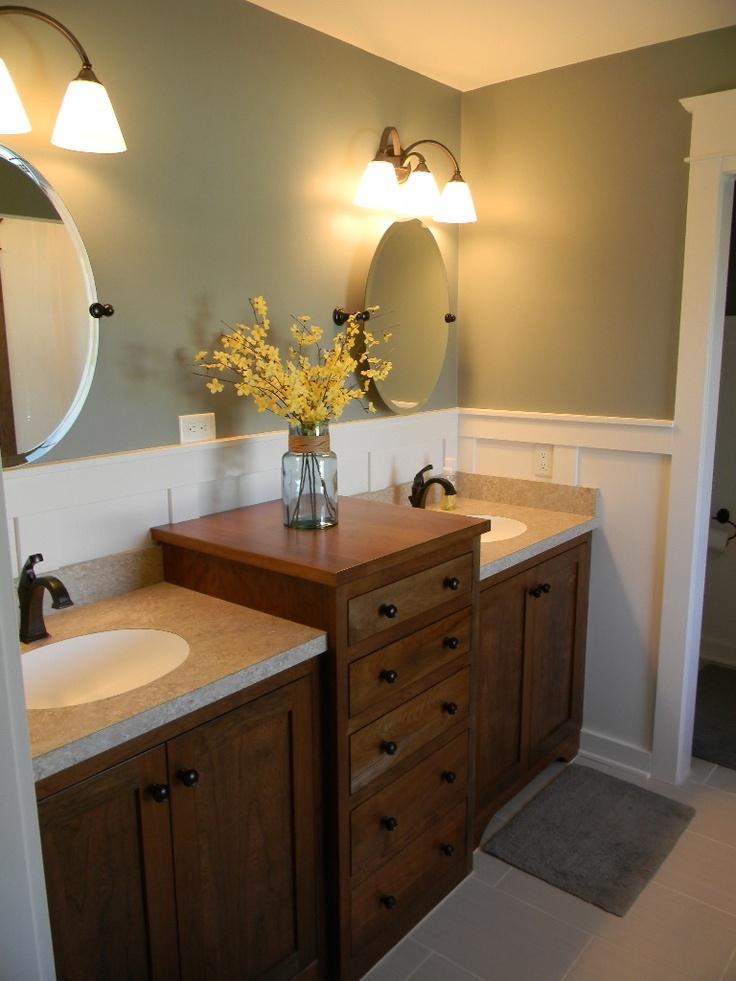 gray master bath paneling double sink vanity cherry OLLWMWF