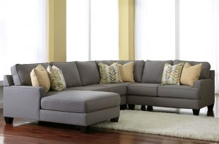 gray sectional sofa grey sectionals with chaise | chamberly alloy 4 piece modular sectional  fabric AHPBRJZ